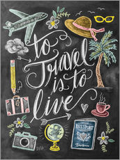 Muursticker  To travel is to live - Lily & Val