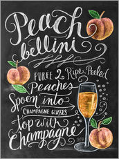 Muursticker  Peach Bellini recipe - Lily & Val