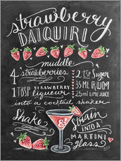 Muursticker  Strawberry Daiquiri recipe - Lily & Val