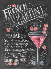 Muursticker  French Martini recept (Engels) - Lily & Val