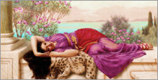 Aluminium print  The sweet idleness (Dolce Far Niente) - John William Godward