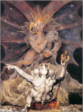 Gallery print  the number of the beast is 666 - William Blake