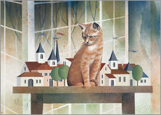 Gallery print  View of the cat - Franz Heigl