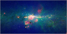 Muursticker  Milky Way (infrared image) - NASA
