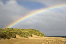 Gallery print  Rainbow over sand dunes - Duncan Shaw