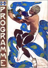 Muursticker  Afternoon of a Faun - Leon Nikolajewitsch Bakst