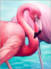 Muursticker  Flamingo - Renate Berghaus