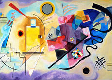 Gallery print  Geel, rood, blauw - Wassily Kandinsky