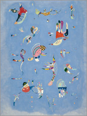 Muursticker  Sky blue - Wassily Kandinsky