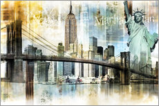 Gallery print  New York Skyline I - Städtecollagen