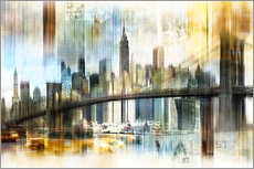 Gallery print  Skyline New York Abstrakt Fraktal - Städtecollagen
