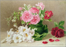 Gallery print  Roses and lilies - Mary Elizabeth Duffield