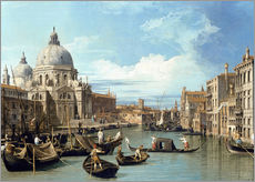 Muursticker  Entrance to the Canal Venice - Bernardo Bellotto (Canaletto)