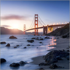 Muursticker  San Francisco Golden Gate Bridge - Jan Christopher Becke