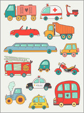 Gallery print  Many great cars - Petit Griffin