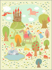 Gallery print  My favorite fairy tales - Petit Griffin