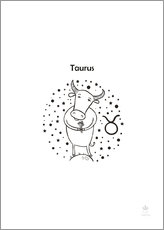 Gallery print  Star sign Taurus - Petit Griffin