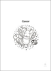 Gallery print  Star sign Cancer - Petit Griffin
