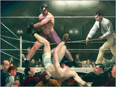 Muursticker  Dempsey and Firpo - George Wesley Bellows