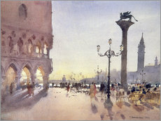 Muursticker  Morning on the Piazzetta, Venice - Trevor Chamberlain
