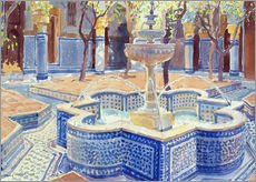 Muursticker  The blue fountain - Lucy Willis