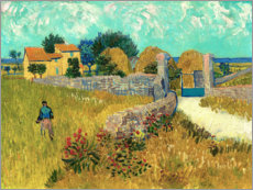 PVC print  Farmhouse in the Provence - Vincent van Gogh
