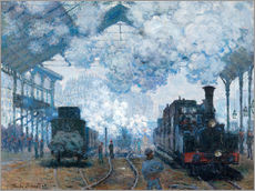 Gallery print  The Station, St-Lazare - Claude Monet