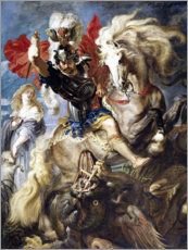 Acrylglas print  St. George and the Dragon - Peter Paul Rubens