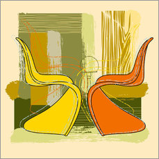 Muursticker panton chair 01