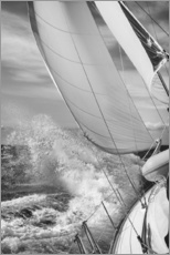 Muursticker  Sailing black / white - Jan Schuler
