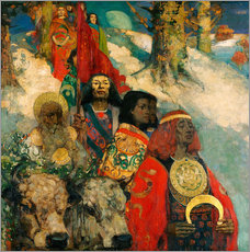 Gallery print  Druids bringing in the Mistletoe - Edward Atkinson Hornel