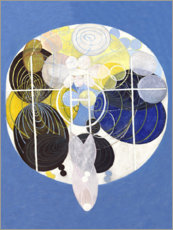 Aluminium print  Grote Figuren, nr. 5 - Hilma af Klint