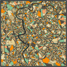 Gallery print  Rome Map - Jazzberry Blue