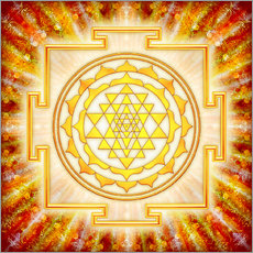 Gallery print  Sri Yantra - artwork light - Dirk Czarnota
