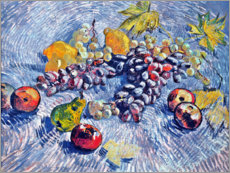 Acrylglas print  Grapes, Lemons, Pears and Apples - Vincent van Gogh