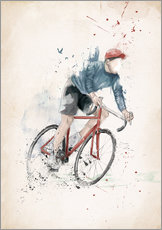 Muursticker  I want to ride my bicycle - Balazs Solti