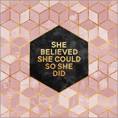 Muursticker  She believed - Elisabeth Fredriksson