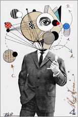 Muursticker  the thinking man - Loui Jover