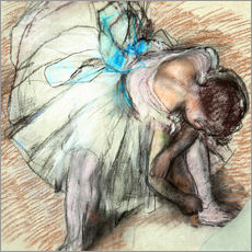 Gallery print  Dancer adusting Her Shoe - Edgar Degas