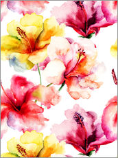 Gallery print  Lily flowers in watercolor
