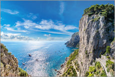 Muursticker  Cliff on Capri island