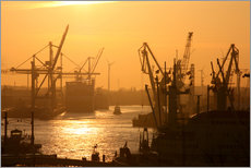 Gallery print  Morning light in the Hamburg harbor