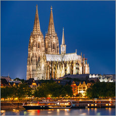 Gallery print  Night view of Cologne Cathedral