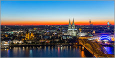 Muursticker  Colorful Cologne skyline at night