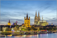 Muursticker  Overlooking the historic center of Cologne
