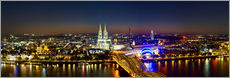 Gallery print  A panoramic view of cologne at night