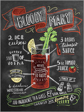 Muursticker  Bloody Mary recipe - Lily & Val