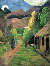 Gallery print  Road into the mountains - Paul Gauguin