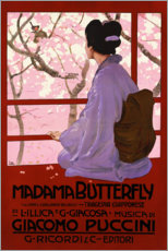 Hout print  Puccini, Madame Butterfly - Leopoldo Metlicovitz