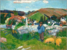 Canvas print  The swineherd - Paul Gauguin